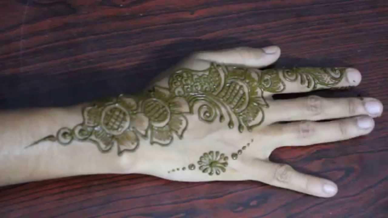 Mehndi For Right Hand Back Side : Easy arabic mehandi design for back hand stylish henna