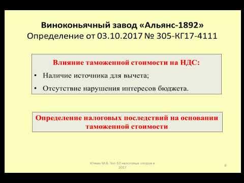 """Таможенный НДС Дело Виноконьячный завод """"Альянс-1892"""" / Import VAT"""