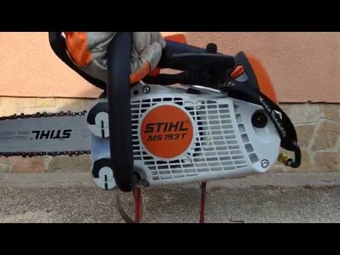 stihl ms 193 t l ncf r sz chainsaw kettensage youtube. Black Bedroom Furniture Sets. Home Design Ideas