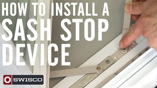 how to install a sash stop device on a casement window 1080p