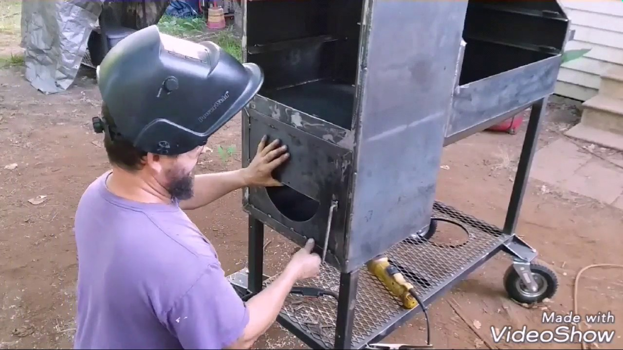 Reverse flow smoker builds