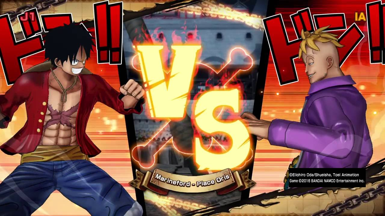 Luffy Vs Marco ONE PIECE BURNING BLOOD - YouTube