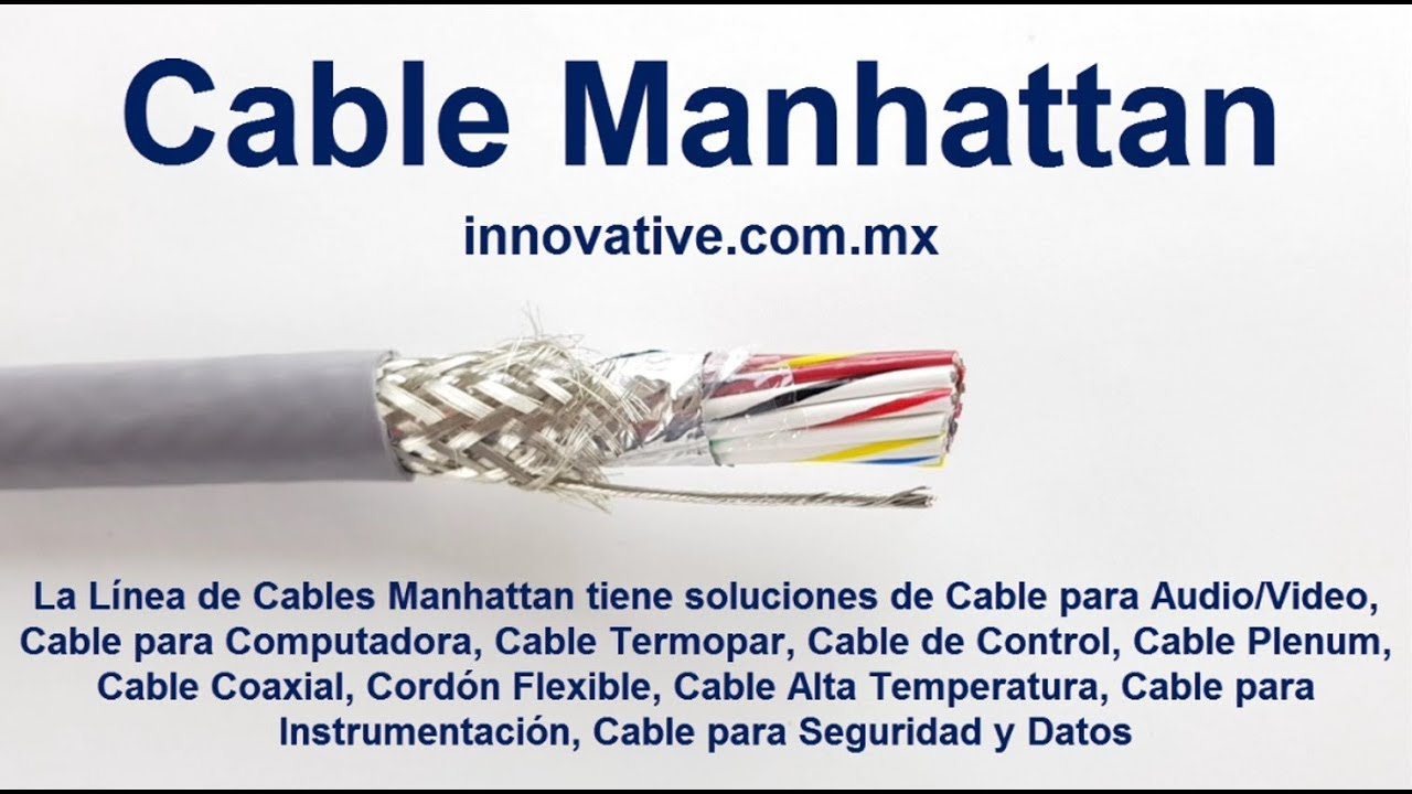 Cable Manhattan - Cable Multiconductor No Blindado y Blindado con ...