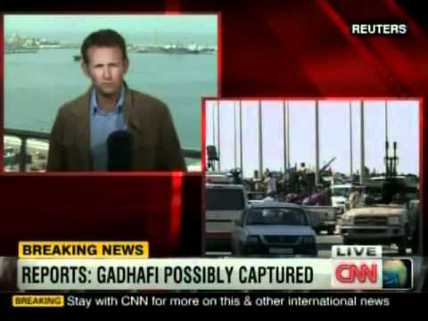 cnn breaking news muammar gaddafi captured in sirte youtube