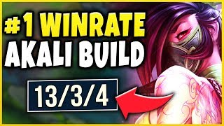 "THIS IS THE #1 WINRATE AKALI BUILD IN HIGH-ELO (WORLD) THE ""RETURN"" OF AKALI!?! - League of Legends"