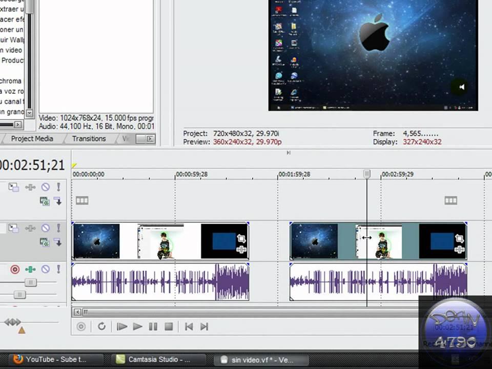 Tutorial Sony Vegas Separar Audio De Video Youtube