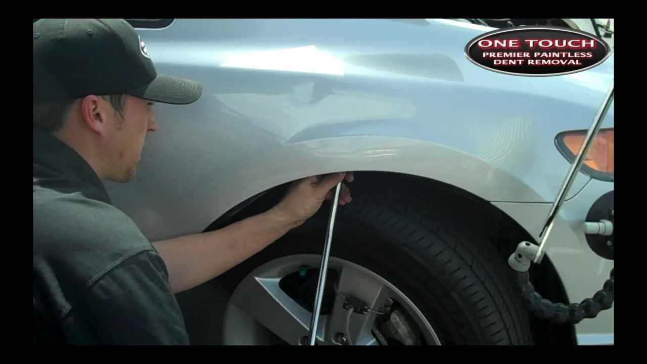 Toyota Fender Dent Repair Youtube