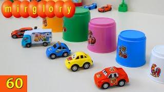 Машинки мультфильм - Животные, цвета - Город машинок - 60 серия. Развивающие мультики mirglory