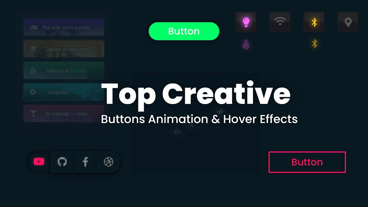 Top Creative Buttons Animation & Hover Effects | Button Hover & Animation Effects