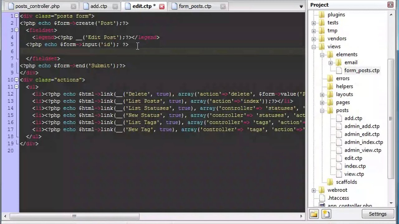 CakePHP - Helpers, Elements, Validation, CRUD and Interactive Tool ...