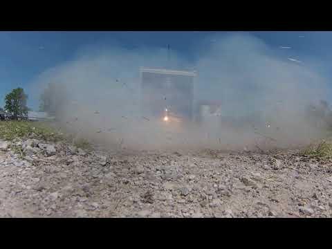 Hybrid End-burning Rocket Motor Test 1