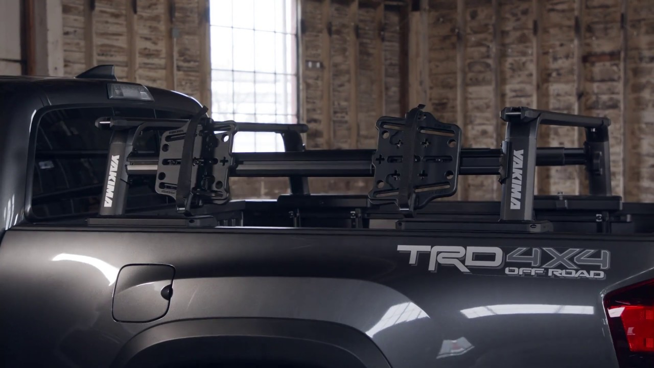 yakima outpost hd mid height truck bed rack package