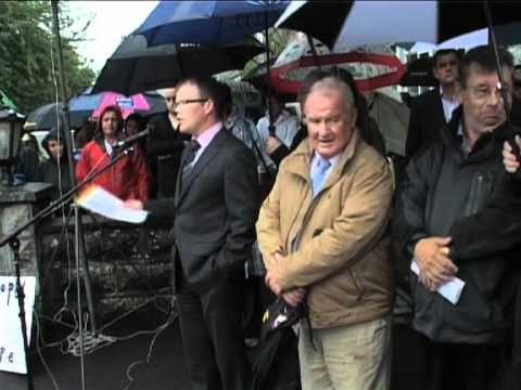 Sinn Fein Councillor Peadar Tóibín at Rally.mov