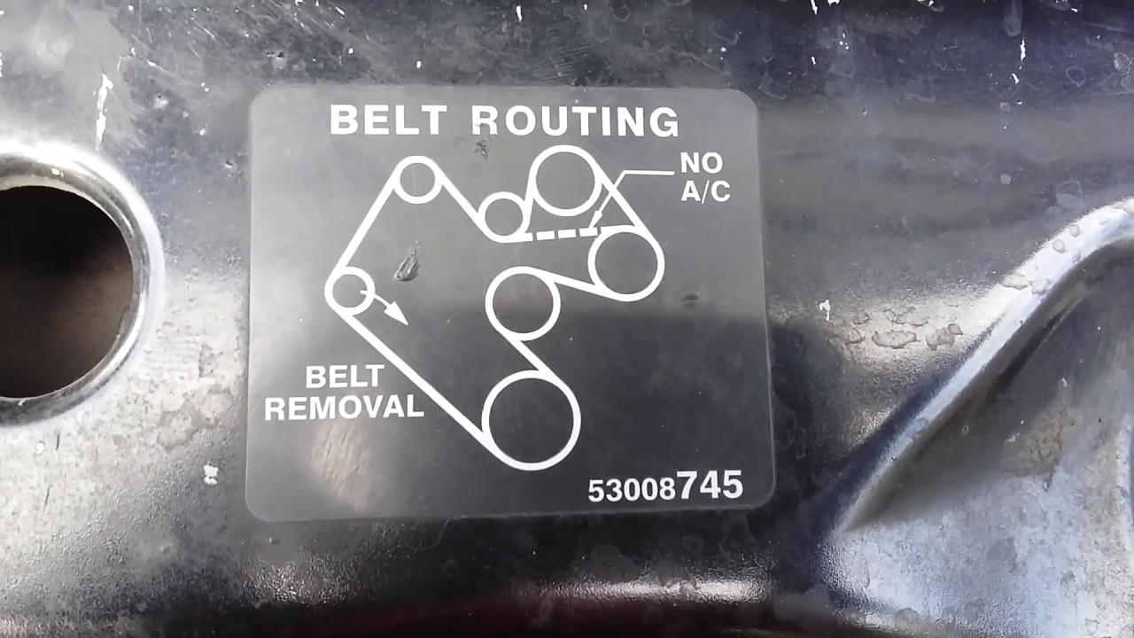 small resolution of fitting a serpentine belt dodge ram 1500 98