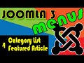 Joomla 3 Tutorials: Category List and Featured Layout