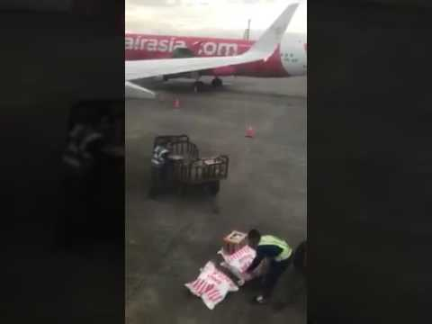 Attitude of A A workers delivery cargo that we have paid luggage fee