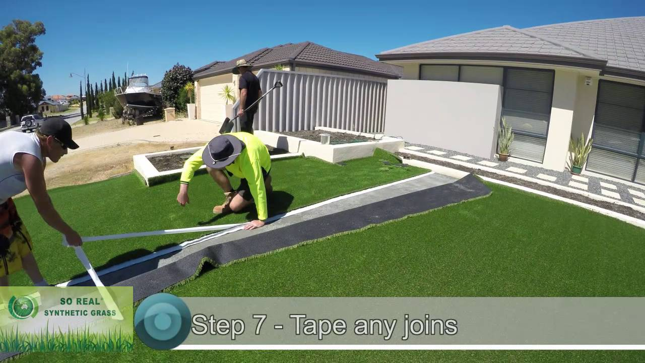 How to lay synthetic lawn by doing it yourself diy youtube how to lay synthetic lawn by doing it yourself diy solutioingenieria Image collections