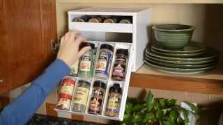 YouCopia SpiceStack Spice Racks Organizer for Kitchen Cabinets