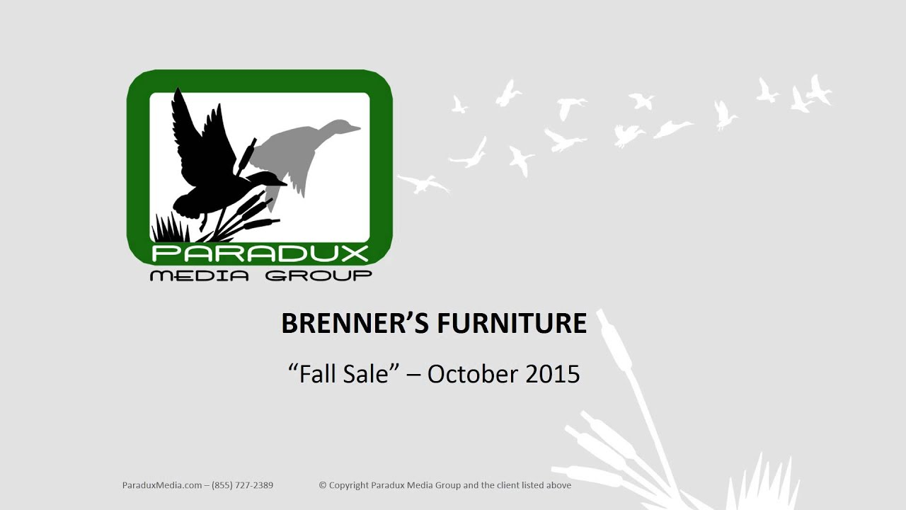 Brenners furniture fall sale radio ad