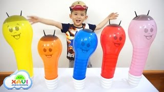 Learn colors with Worm Balloons - Xavi ABCKids