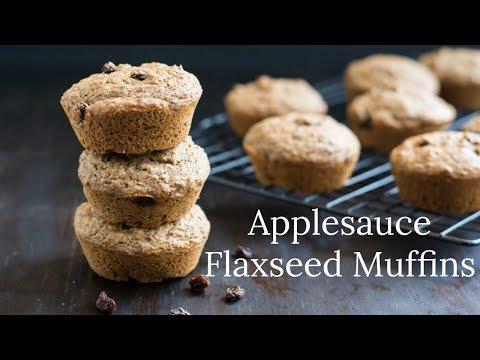 Applesauce Flaxseed Muffins Vegan