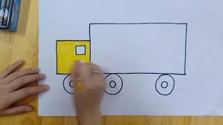Hoạt động tạo hình: Dạy trẻ vẽ Ô tô tải