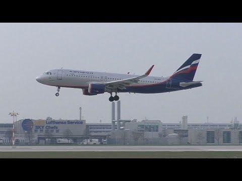Aeroflot Airbus A320 Landing At Munich Airport | VQ-BRV