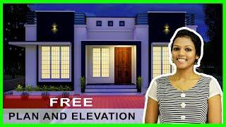 2bhk 662 Sqft | Beautiful Low Budget Home | ചെലവ് കുറഞ്ഞ വീടിൻ്റെ ഡിസൈൻ | Small House Design #1