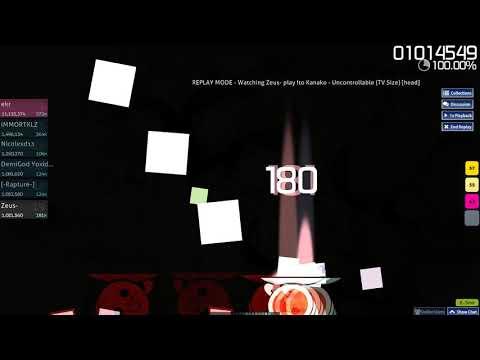 Osu!Catch   Zeus-   Uncontrollable (TV Size) [head] SS #3 376pp