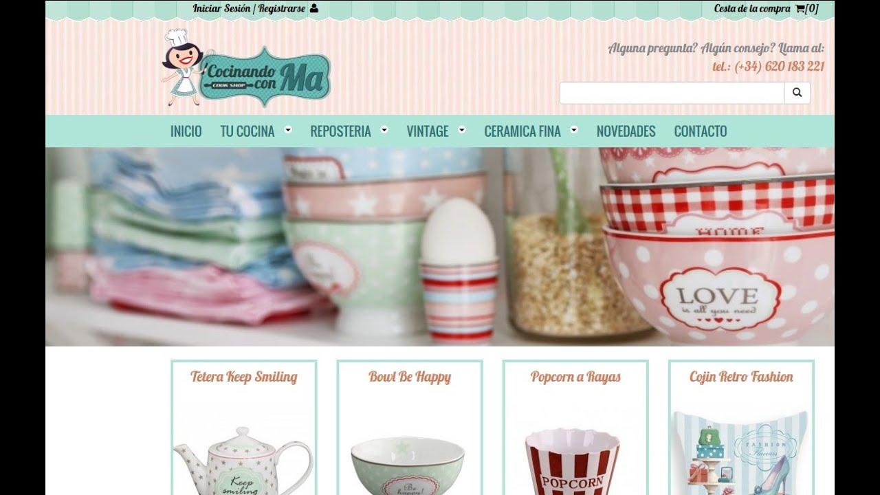 Tienda online menaje de cocina vintage youtube for Menaje cocina online