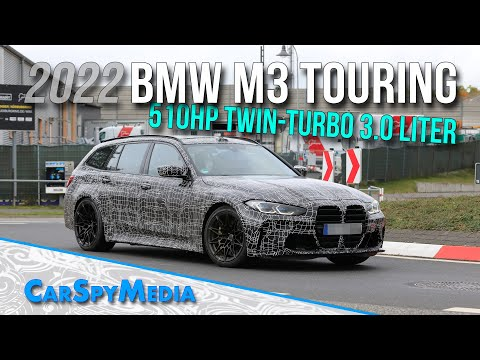 2022 BMW M3 Touring 510HP Twin-Turbo 3.0-Liter Prototype Spied Public Road Testing At Nürburgring