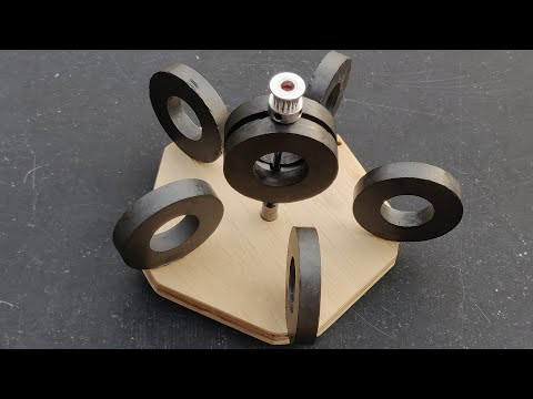 Free Energy Generator Using Permanent Magnetic Force