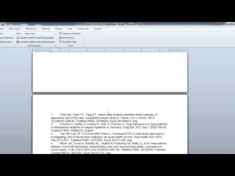 How to insert citations in word from endnote