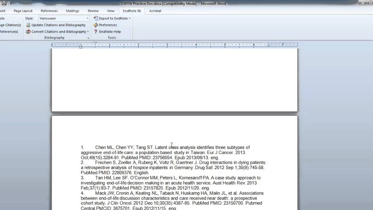 inserting  u0026 deleting citations with endnote