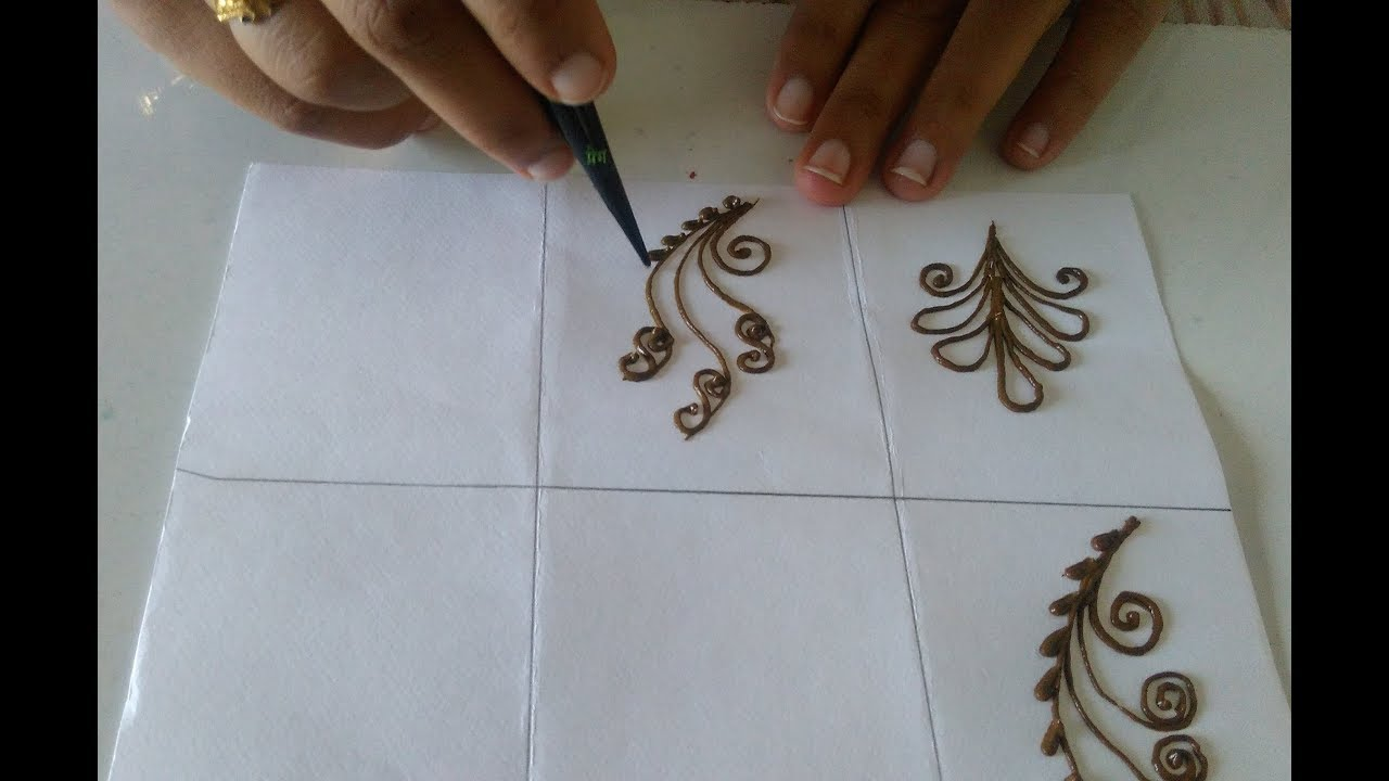 Easy Mehndi Tutorial : Simple mehndi designbasic designeasy tutorial