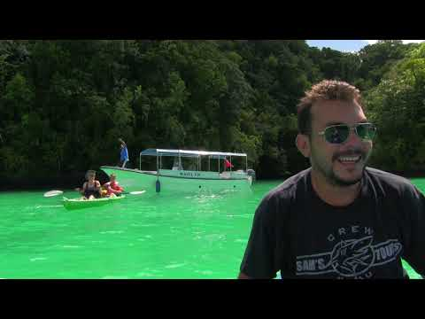 Palau  Micronesia Long Lake Kayaking  Paul Ranky HD Video