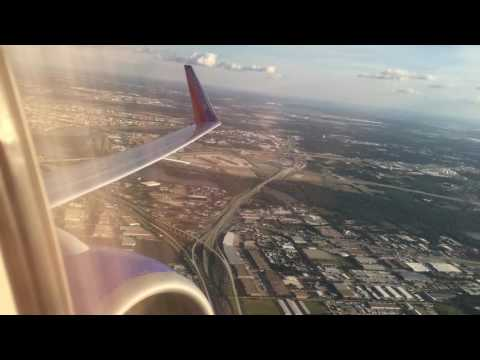 Southwest Airlines Takeoff from Dallas Love Field and flyover of Dallas Fort Worth International