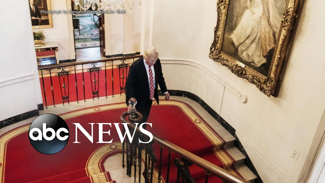 Trump Redecorates White House With Gold Walls Chandelier