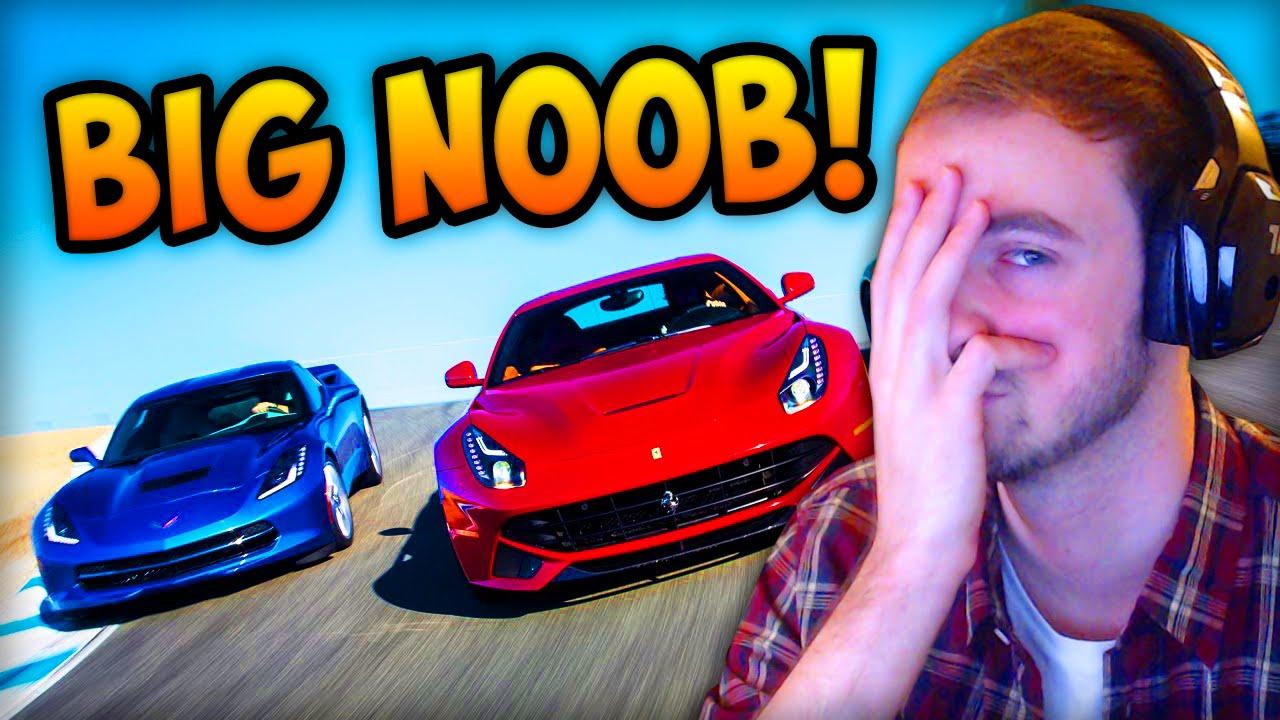 ali a big noob racing fail youtube