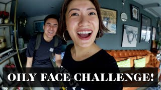 EXTREME OILY FACE CHALLENGE (FUNNIEST REACTIONS EVER!) | Laureen Uy