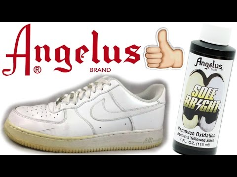 How to Unyellow Midsoles On Air Force Ones! AF1 Whitening!
