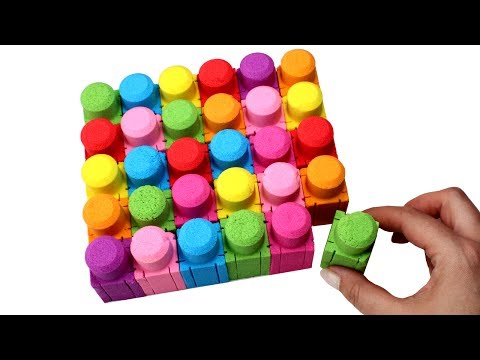 Thumbnail: DIY Kinetic Sand Lego Bricks Learn Colors Kinetic Sand Feet Rainbow Toes Video for Kids
