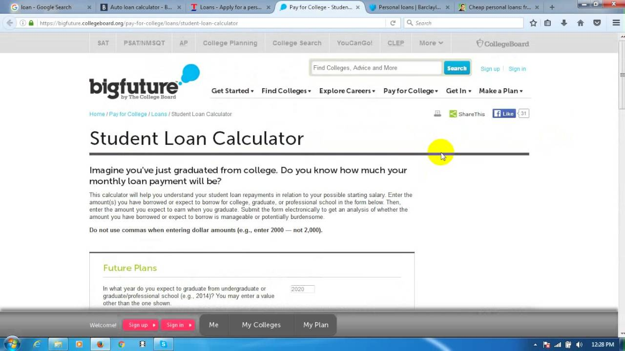 college loans calculator
