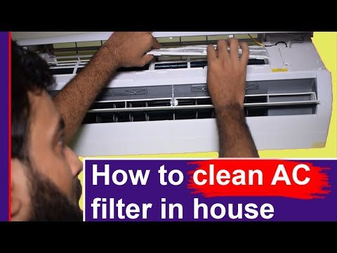 How to clean AC filter in house | clean air conditioner | how to clean your air conditioner