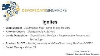 Day 2 ignites - DevOpsDays Singapore 2017