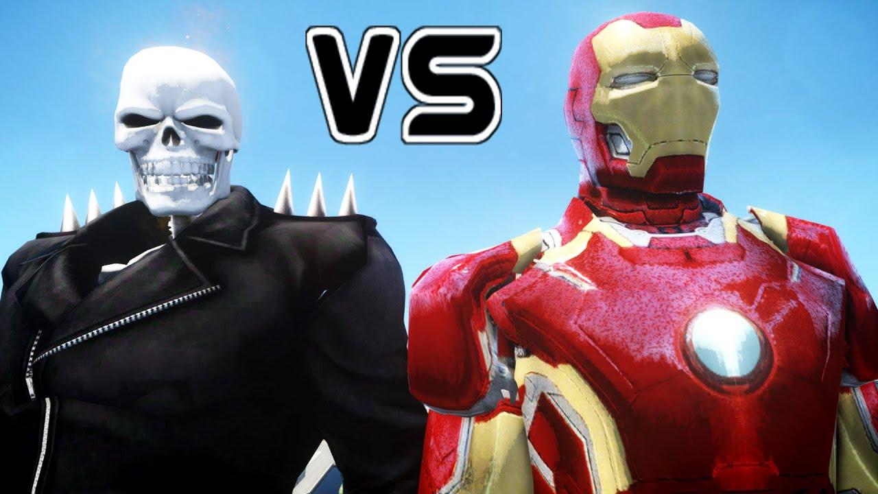 Ghost Rider Vs Iron Man Mark 43 Epic Battle Youtube