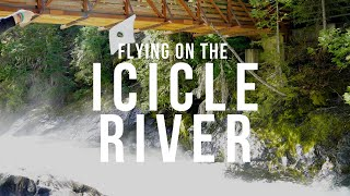 Kite Flying on the Air Currents of the Icicle River - Leavenworth, Washington.