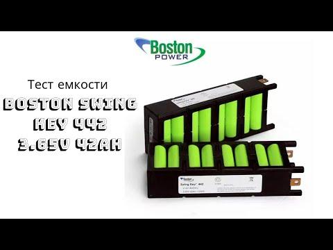 Тестирование Li-ion элементов Boston Swing 5300 MAh в заводских сборках Boston Swing Key 442