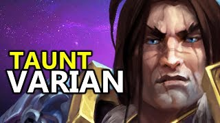 ♥ TAUNT VARIAN - Heroes of the Storm (HotS Gameplay)
