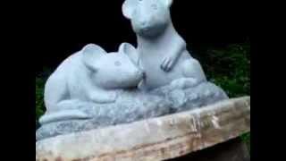 塩原八幡宮に巨大な夫婦ねずみが現れました。 ねずみと言えば日本の神話...